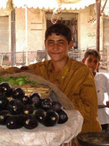 Eggplant Vendor Iraq 2003